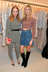 Left to right, PETRA PALUMBO and EVIE HENDERSON at a party to celebrate the re-launch of the Ghost Flagship store at 120 King's Road, London on 15th April 2015.