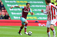 Jose Fonte of West Ham.  Premier league match, Stoke City v West Ham Utd at the Bet365 Stadium in Stoke on Trent, Staffs on Saturday 29th April 2017.<br /> pic by Bradley Collyer, Andrew Orchard sports photography.