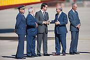 Ministers Miguel Angel Arias CaÒete, Jose Manuel Soria, Jorge Fernandez Diaz await the arrival of Prime Minister Mariano Rajoy