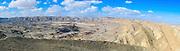 Negev Desert landscape photographed at HaMakhtesh HaGadol (The Big Crater) is a makhtesh, a geological erosional landform of Israel's Negev desert. It measures 5 x 10 km.