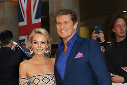 Hayley Roberts, David Hasselhoff, Pride of Britain Awards, Grosvenor House Hotel, London UK. 28 September, Photo by Richard Goldschmidt /LNP © London News Pictures