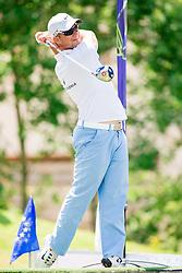 Damjan Murgelj of Slovenia during Slovenia Long Drivers European Tour  Championship on July 5, 2014 in  Golf Arboretum Ljubljana, Volcji Potok, Slovenia. Photo By Vid Ponikvar / Sportida