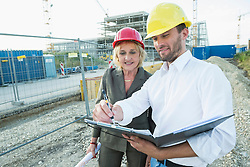 Architect on site with customer