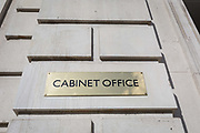 Exterior of the Cabinet Office on Whitehall, the location of daily Brexit contingency planning meetings codenamed Yellowhammer, in government departments, on 19th August 2019, in London, England.