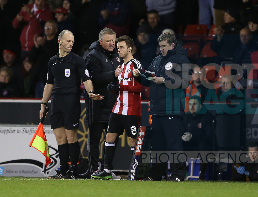 Stefan Scougall of Sheffield Utd during the English League One match at Bramall Lane Stadium, Sheffield. Picture date: December 26th, 2016. Pic Simon Bellis/Sportimage