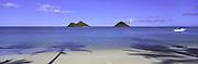 Mokulua Island, Lanikai, Oahu, Hawaii, USA<br />