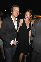 CHARLIE GILKES and OLIVIA INGE at a party to celebrate the publication of the 2007 Tatler Little Black Book held at Tramp, 40 Jermyn Street, London on 7th November 2007.<br />