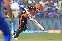 April 29, 2018 - Jaipur, Rajasthan, India - Sunrisers  Hyderabad batsman Shikhar Dhawan plays a shot during the IPL T20 match against Rajasthan Royals at Sawai Mansingh Stadium in Jaipur on 29th April,2018. (Credit Image: © Vishal Bhatnagar/NurPhoto via ZUMA Press)