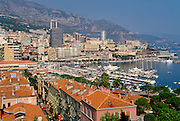 Yachts in the bay of the Mediterranean Sea at Monte Carlo, Principality of Monaco