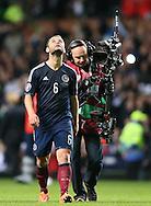 \Winning goal scorer Shaun Maloney of Scotland looks towards the heavens on the final whistle - UEFA Euro 2016 Qualifier - Scotland vs Republic of Ireland - Celtic Park Stadium - Glasgow - Scotland - 14th November 2014  - Picture Simon Bellis/Sportimage