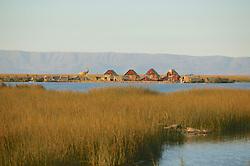 Floating Island On Lake Titicaca