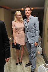 MAX BROWN and ANNABELLE HORSEY at the second night of the Tomodachi (Friends) Charity Dinners hosted by Chef Nobu Matsuhisa in aid of the Japanese committee for UNICEF held at Nobu Berkeley, Berkeley Street, London on 5th May 2011.