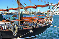 Yacht, Eye of the Wind, moored at new marina, Malaga, Andalusia, Spain, December, 2013, 201312203038<br />