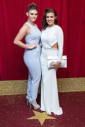 © Licensed to London News Pictures . 16/05/2015 .  The Palace Hotel , Manchester , UK . Kym Marsh (r) with her daughter Emily Cunliffe (l) . The red carpet at the 2015 British Soap Awards , The Palace Hotel , Oxford Road , Manchester . Photo credit : Joel Goodman/LNP