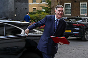 Leader of the House of Commons Jacob Rees-Mog arrives in 10 Downing Street, London, ahead of a Cabinet meeting at the Foreign and Commonwealth Office on Wednesday, Sept 30, 2020. (VXP Photo/ Vudi Xhymshiti)