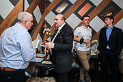 People gathered for drinks during a networking event at Happenstance, 10 Paternoster Square in central London on Thursday, Aug 12, 2021. The event was organised by Scott Longman, who is Freeman of The City of London since 2005. Longman is standing for Common Council Elections in March 2022 and his goal is to progress and be Lord Mayor of the city of London in 12 years time. <br /> (VX Photo/ Vudi Xhymshiti)