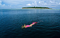 The island of Sangalaki in the Derawan area of Indonesia's Kalimantan is famous fpr manta rays, sea tyrtle nesting and healthy coral reefs. Nearby there is also a marine lake at uninhabited Kakabanb.