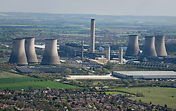 © under license to London News Pictures.  07/04/2011. An aerial view of Didcot coal and gas fired power station in Didcot, Oxfordshire.