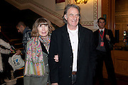 SIR PAUL SMITH; LADY SMITH, Press night of Cirque du Soleil's new show 'Totem' at The Royal Albert Hall.  London. January 5, 2011<br /> <br /> -DO NOT ARCHIVE-© Copyright Photograph by Dafydd Jones. 248 Clapham Rd. London SW9 0PZ. Tel 0207 820 0771. www.dafjones.com.
