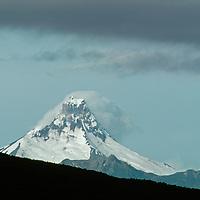 Cerro Puntiagudo, a volcanic plug, rises in Chile's Lakes District.