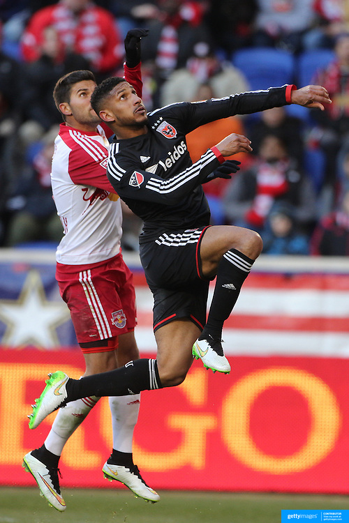 Sean Franklin, D.C. United in action during the New York Red Bulls Vs D.C. United Major League Soccer regular season match at Red Bull Arena, Harrison, New Jersey. USA. 22nd March 2015. Photo Tim Clayton