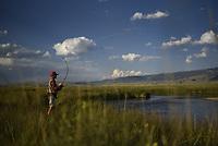 Fishing on Flat Creek, National Elk Refuge
