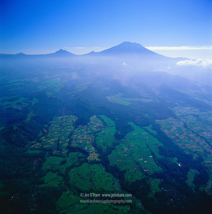 The foothills of Mount Agung 3142m, Bali, Indonesia.