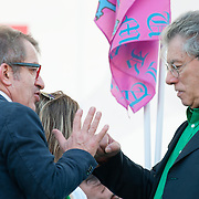"Roberto Maroni (L) and Umberto Bossi  ( R) joke at today Lega Nord rally  in Venice under the slogan ""Prima Il Nord""  (North First)  the Lega Nord with its new Secretary Roberto Maroni are trying to go back to their  1996 meeting in Venice with its original federalist credo"