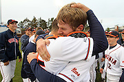 March 29, 2011 - Charlottesville, VA. USA; From left, Virginia pitcher Will Roberts threw the first perfect game in school history against George Washington Tuesday night at Davenport Stadium. It's the 8th 9-inning perfect game in NCAA Division 1 play since 1957. Photo/Andrew Shurtleff