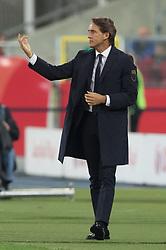 October 14, 2018 - Chorzow, Poland - Trener Roberto Mancini (ITA) during the UEFA Nations league match between Poland v Italy at the Slaski Stadium on October 14, 2018 in Chorzow, Poland. (Credit Image: © Foto Olimpik/NurPhoto via ZUMA Press)