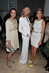 Left to right, YASMIN LE BON, ELLE MACPHERSON and TESS DALY at the 2012 Rodial Beautiful Awards held at The Sanderson Hotel, Berners Street, London on 6th March 2012.