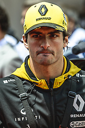 May 13, 2018 - Barcelona, Catalonia, Spain - CARLOS SAINZ JR. (ESP), Renault, is presented to the crowd prior the Spanish GP at Circuit de Barcelona - Catalunya (Credit Image: © Matthias Oesterle via ZUMA Wire)