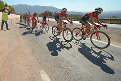October 14, 2017 - Izmir, Turkey - Kiel Reijken (Right) from Trek-Segafredo Team in the lead during the fifth stage - the 166 km Vestel Selcuk to Izmir, the second last stage of the 53rd Presidential Cycling Tour of Turkey 2017..On Saturday, 14 October 2017, in Izmir, Turkey. (Credit Image: © Artur Widak/NurPhoto via ZUMA Press)