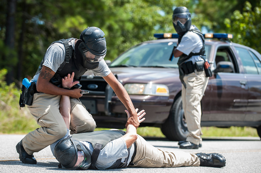 Savannah Technical College Peace Officer Academy, Tuesday, August 26th, 2014 in Savannah, Ga.  (STC Photo/Stephen B. Morton)