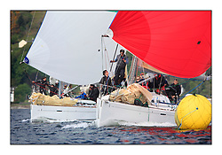 Savills Kip Regatta 2011, the opening regatta of the Scottish Yachting Circuit, held on the Clyde...Grand Cru, First 40.7, GBR 6969 T and Elf Too, First 40, GBR 4041 R