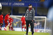 Liverpool manager Jurgen Klopp  during the English FA Cup fifth round soccer match between Chelsea and Liverpool at Stanford Bridge Stadium, Wednesday, March 3, 2020, in London, United Kingdom. (ESPA-Images/Image of Sport)