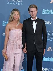Kaley Cuoco, Karl Cook, The 22nd Annual Critics Choice Awards at Barker Hangar (Santa Monica, CA.)
