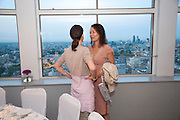 CORINNE FLICK; ALMINE RUIZ-PICASSO; Dinner hosted by Julia Peyton-Jones and Hans Obrist for the Council of the Serpentine to celebrate: Jeff Koons, Popeye Series. Paramount Club, Paramount Centre Point. London. 30 June 2009