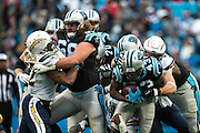 December 11, 2016: Carolina Panthers vs San Diego Chargers. Fozzy Whittaker