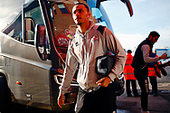 Josh Dacres-Cogley arrives before the EFL Sky Bet League 2 match between Walsall and Crawley Town at the Banks's Stadium, Walsall, England on 18 January 2020.