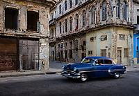 HAVANA, CUBA - CIRCA MAY 2017:  Old car in streets of Havana