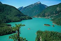 Diablo Lake, North Cascades, North Cascades Highway overlook, Washington