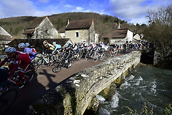March 7, 2017 - Chalon Sur Saone, France - CHALON-SUR-SAONE, FRANCE - MARCH 7 : Illustration picture of the peloton during stage 03 of the 75th edition of the Paris - Nice cycling race, a stage of 190 km with start in Chablis and finish in Chalon-Sur-Saone on March 07, 2017 in Chalon-Sur-Saone, France, 7/03/2017 (Credit Image: © Panoramic via ZUMA Press)