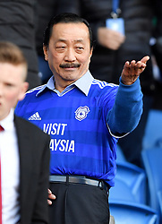 Cardiff City owner Vincent Tan in the stands during the Premier League match at Cardiff City Stadium.