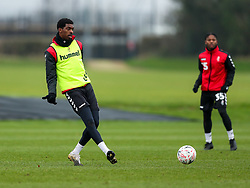 Tyreeq Bakinson of Bristol City during a training session ahead of the FA Cup game with Portsmouth - Rogan/JMP - 07/01/2021 - Failand - Bristol, England.