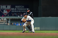 Brian Dozier #2 of the Minnesota Twins waits for a pitch during a game against the New York Mets on April 13, 2013 at Target Field in Minneapolis, Minnesota.  The Mets defeated the Twins 4 to 2.  Photo: Ben Krause