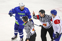 Ales Kranjc of Slovenia during Ice Hockey match between National Teams of Italy and Slovenia in Round #5 of 2018 IIHF Ice Hockey World Championship Division I Group A, on April 28, 2018 in Arena Laszla Pappa, Budapest, Hungary. Photo by David Balogh / Sportida