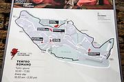 Tourist map of Volterra Tuscany Italy