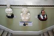 Inside the Maritime museum, Hull, Yorkshire, England ship figureheads