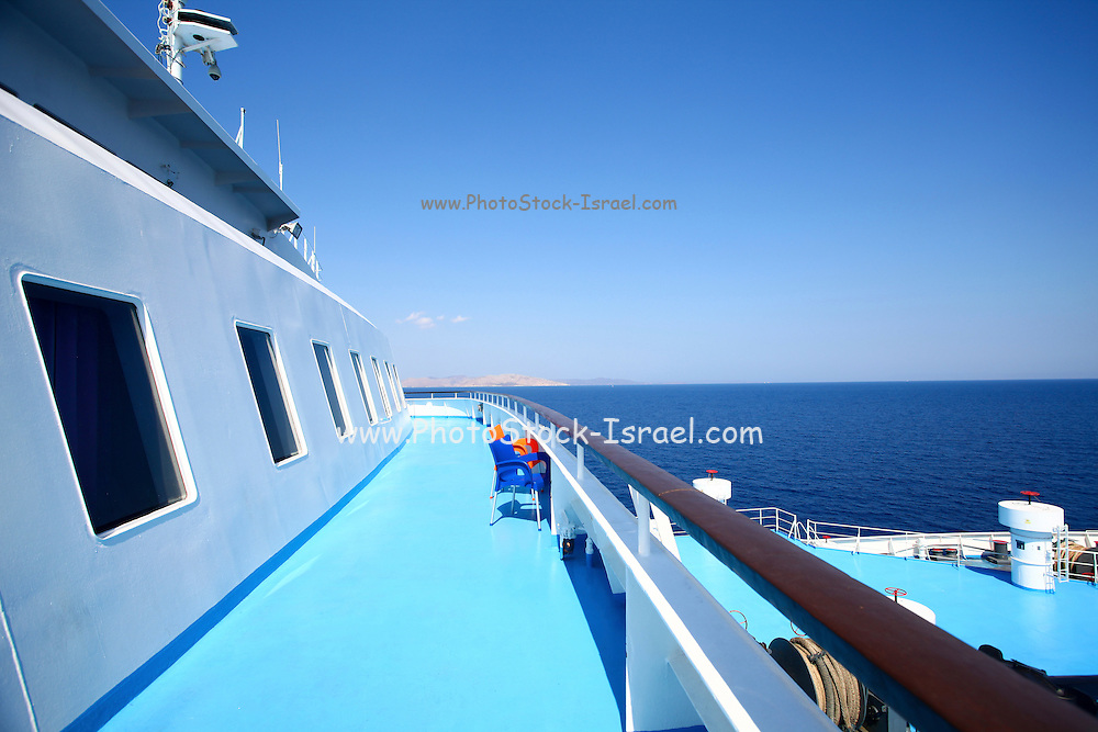 The Greek ferry boat from Piraeus to Paros Island